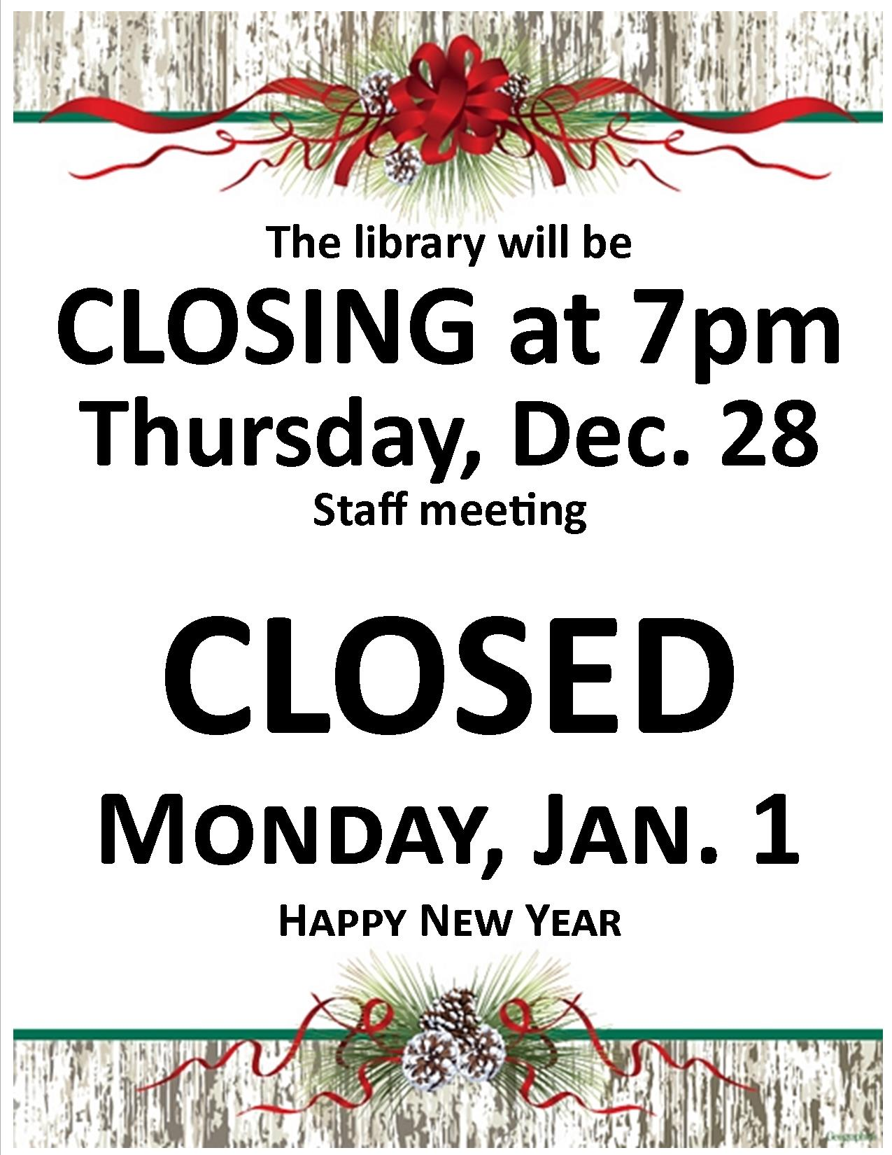 Library Closed 20172923