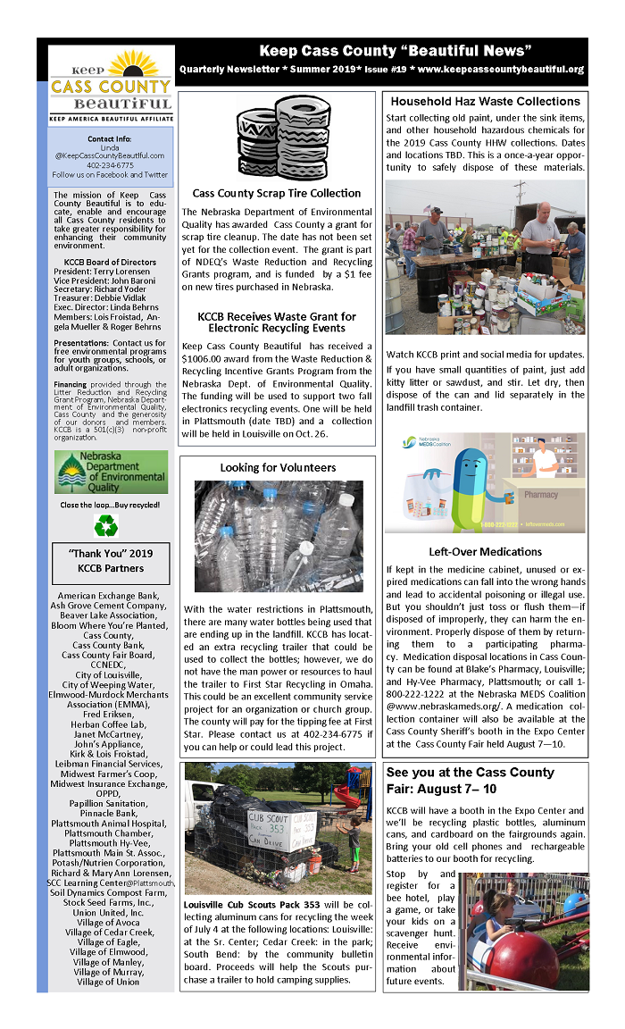 2019 KCCB Summer Newsletter pg 1