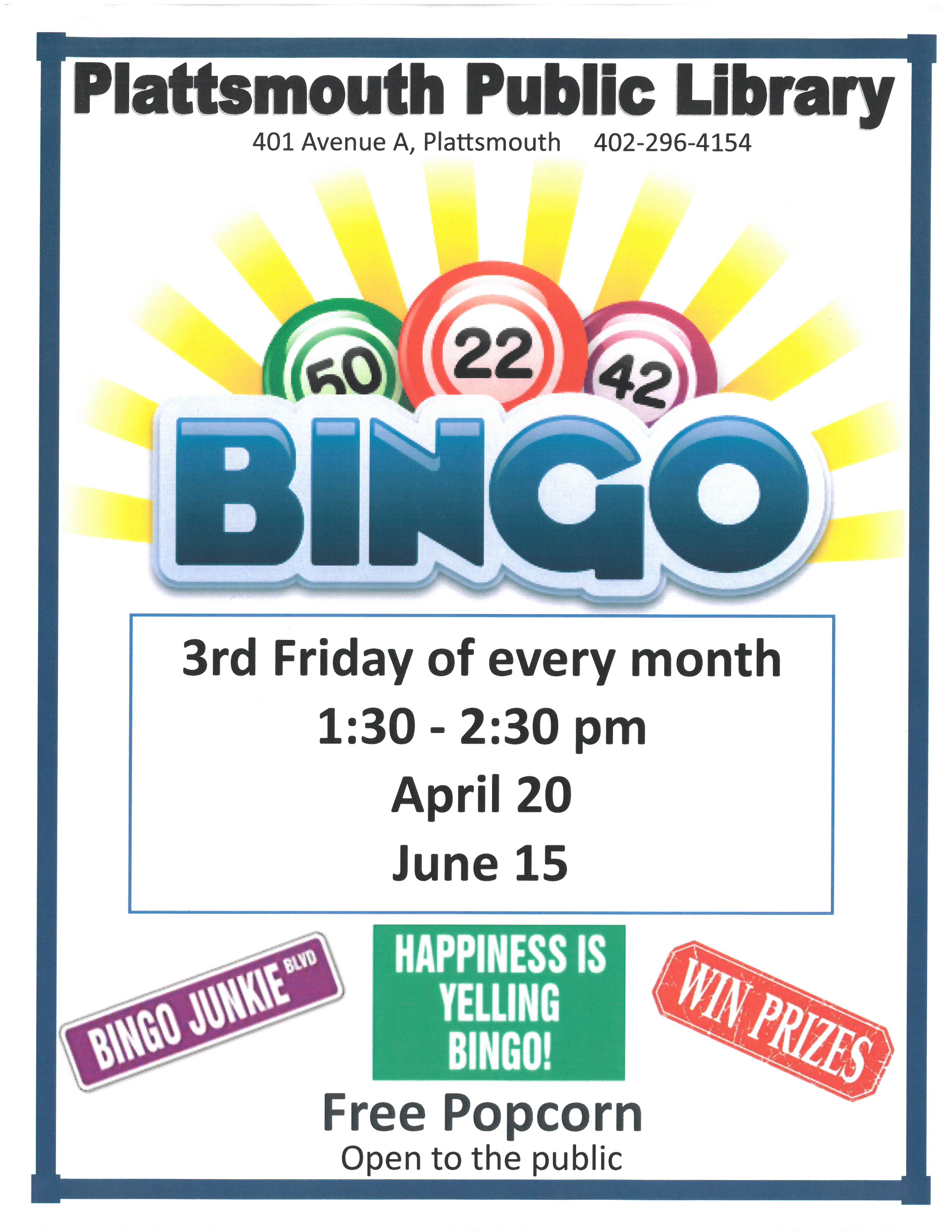 Bingo April June5262