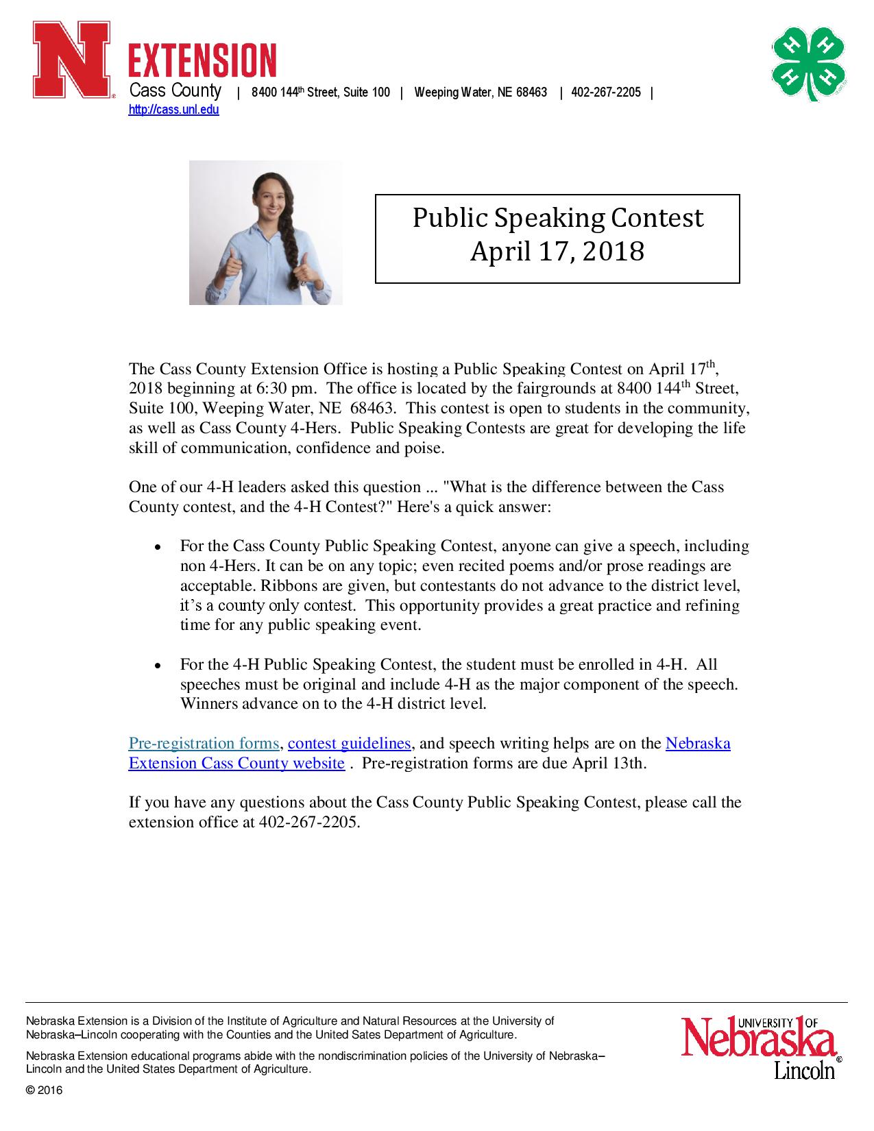 Speech Contest publicity notice4644 page 001