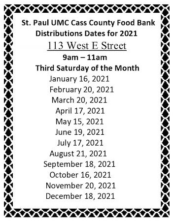 food bank distribution dates